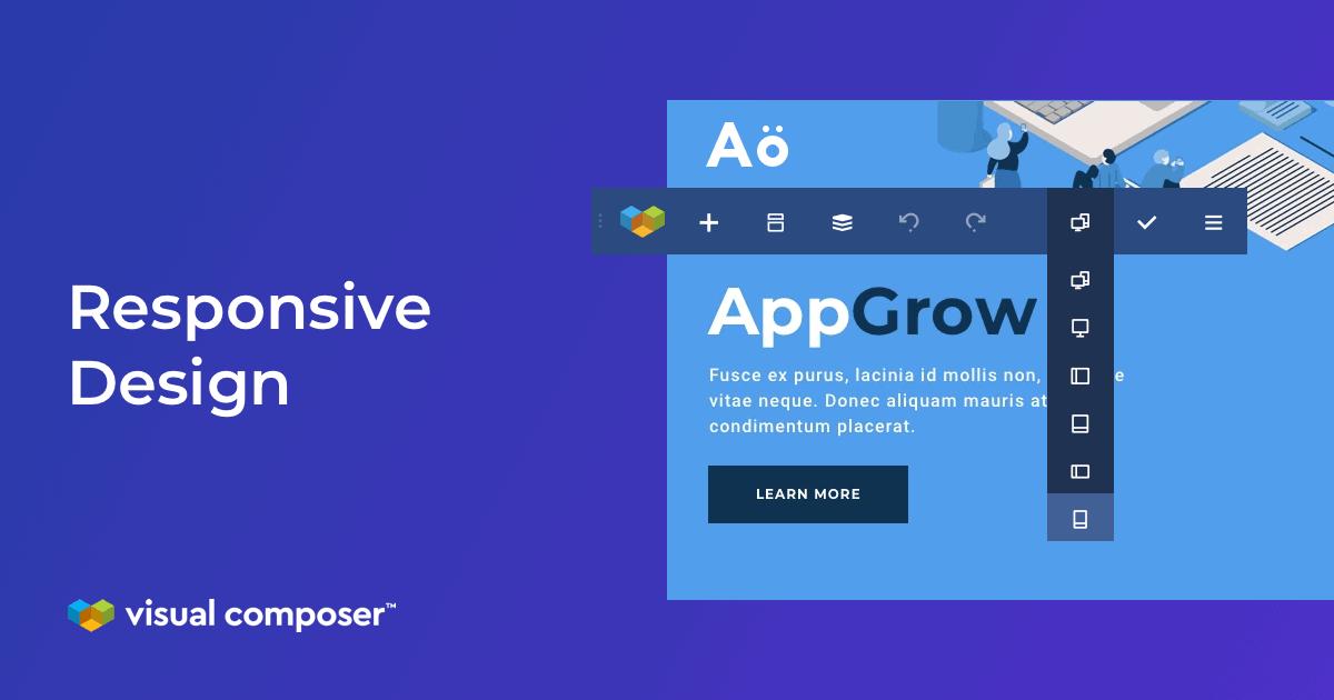 Visual Composer responsive design