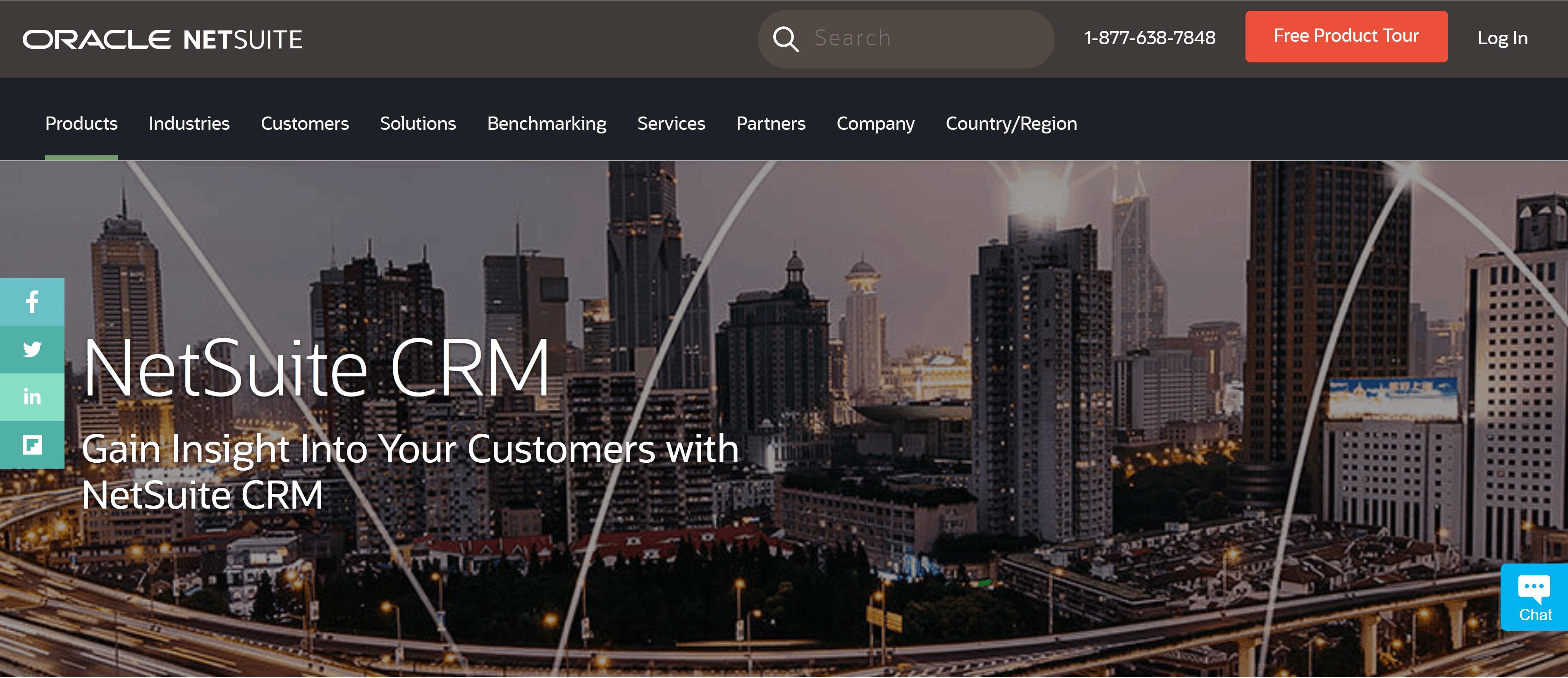 Oracle + Netsuite CRM tool