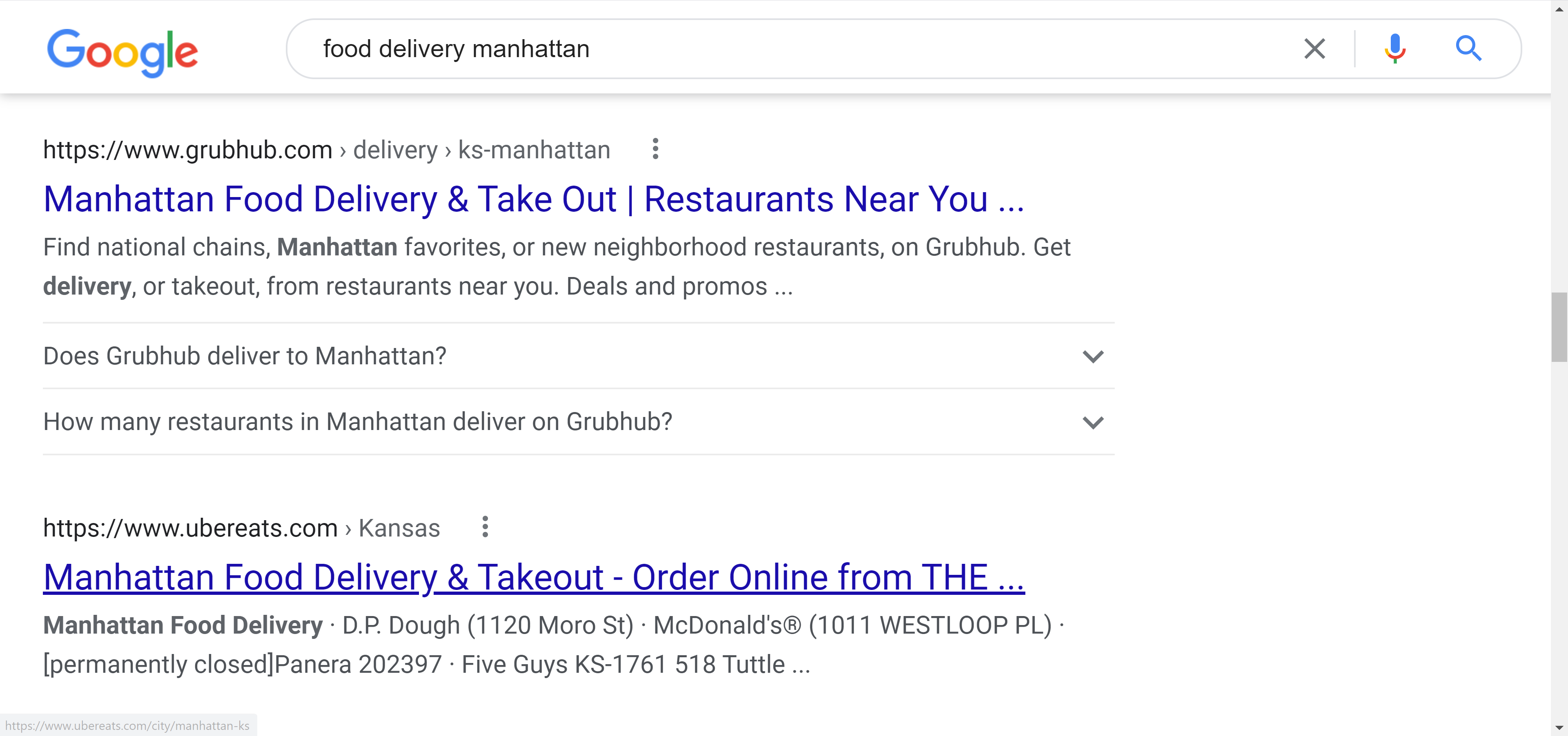 Local SEO keywords in title and description