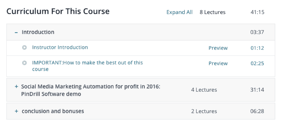 Udemy Email Marketing lessons for marketing automation