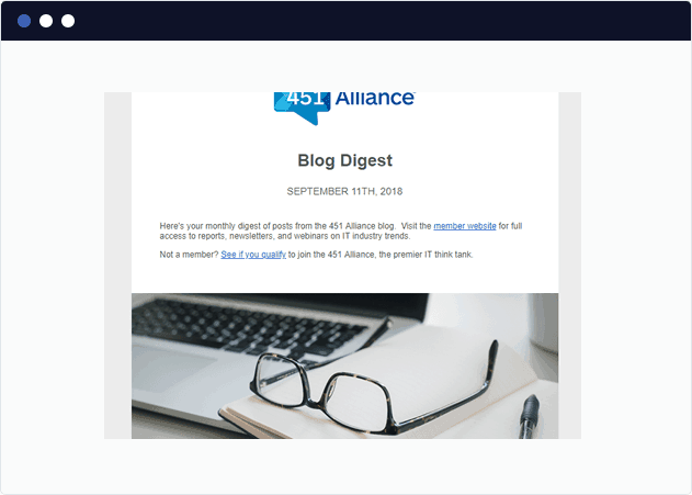 Marketo Blog Digest Example Email