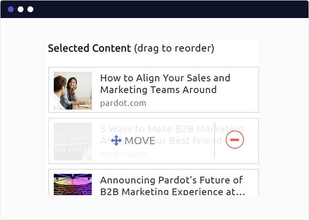 Select and re-order curated newsletter posts