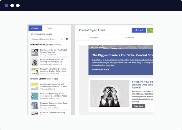Create curated email newsletters
