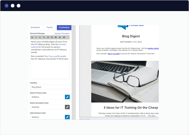 Customize the styles of your Marketo blog digest email