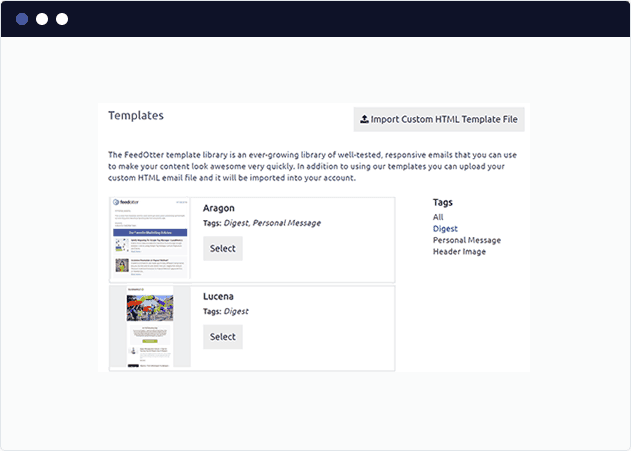 Select a Marketo blog digest template