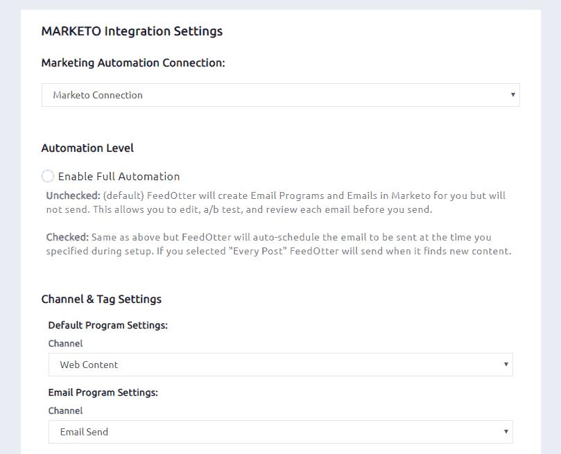 Marketo connection details