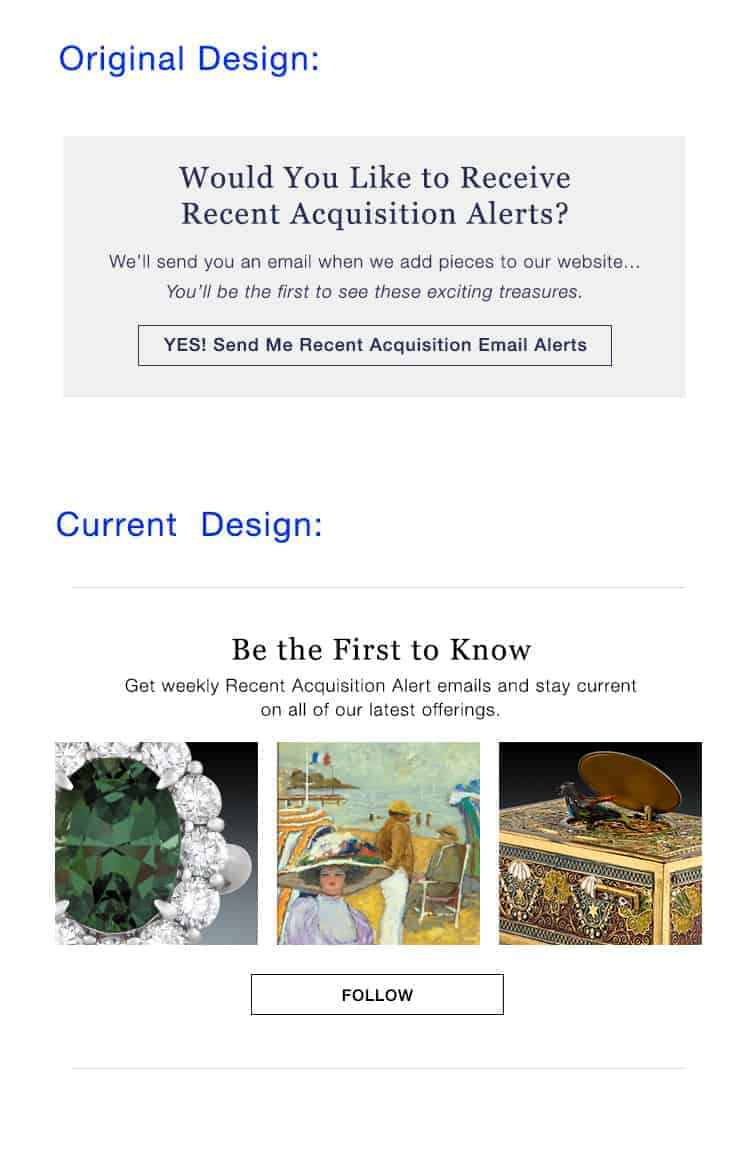 Current Design of Site. - Be the First to Know