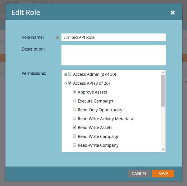 Add Your Marketo REST API credentials
