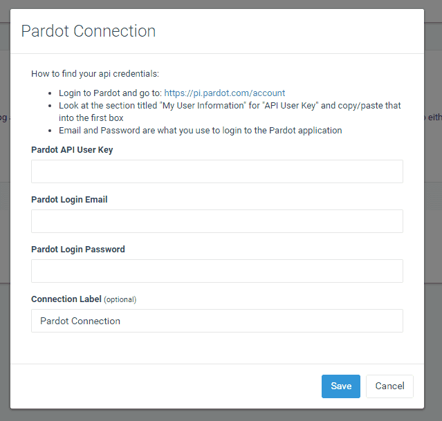 Connect your RSS email to Pardot