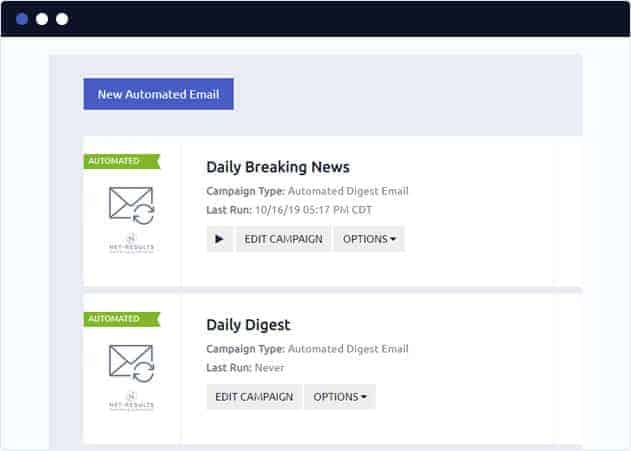 Create a new Net-Results Automated Email Campaign