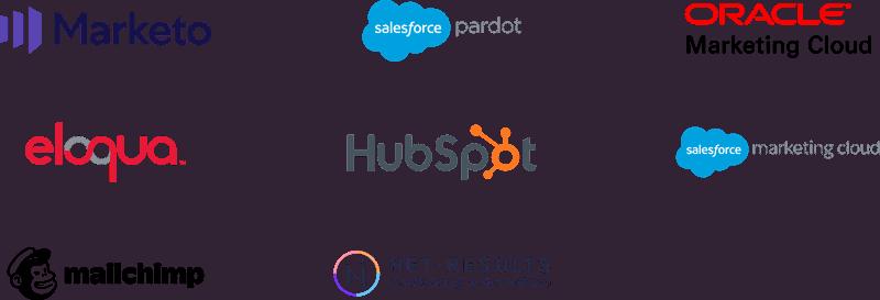 Universal integration between your cms and marketo, pardot, salesforce, hubspot, eloqua
