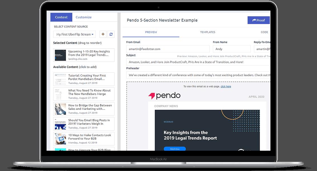 FeedOtter Screenshot in MacBook Pro