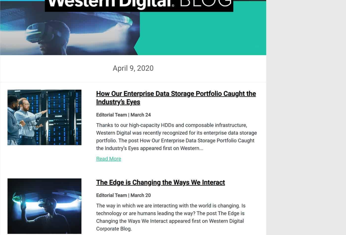 Western Digital's Marketo Blog Digest