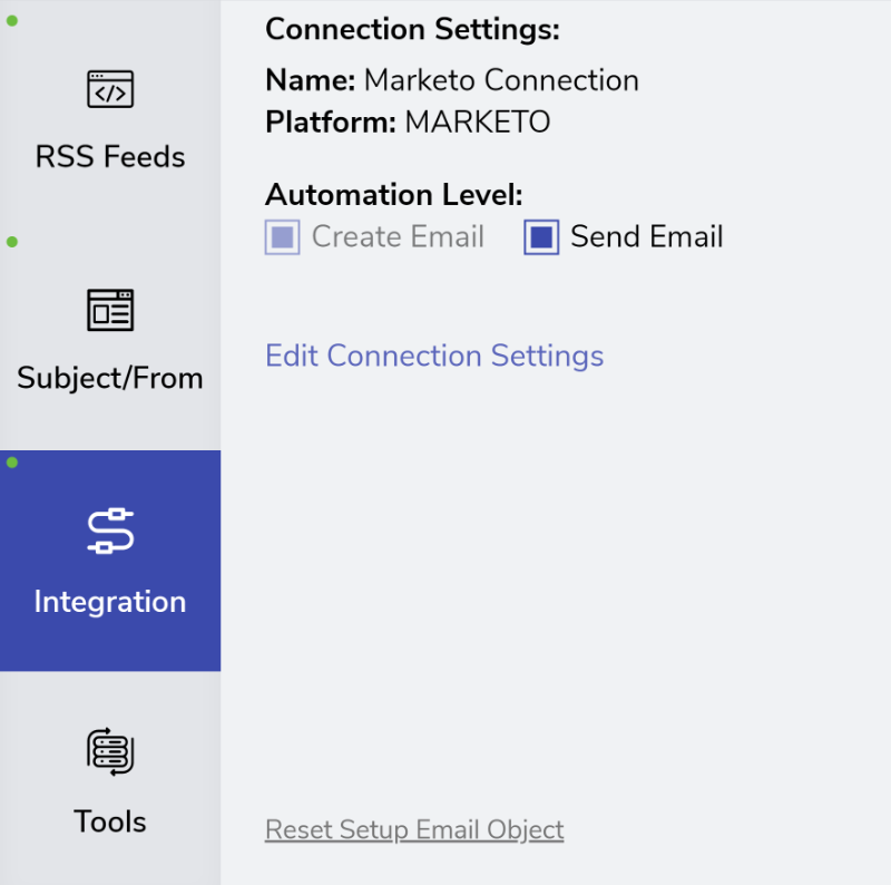 Reset Marketo Email Template in FeedOtter