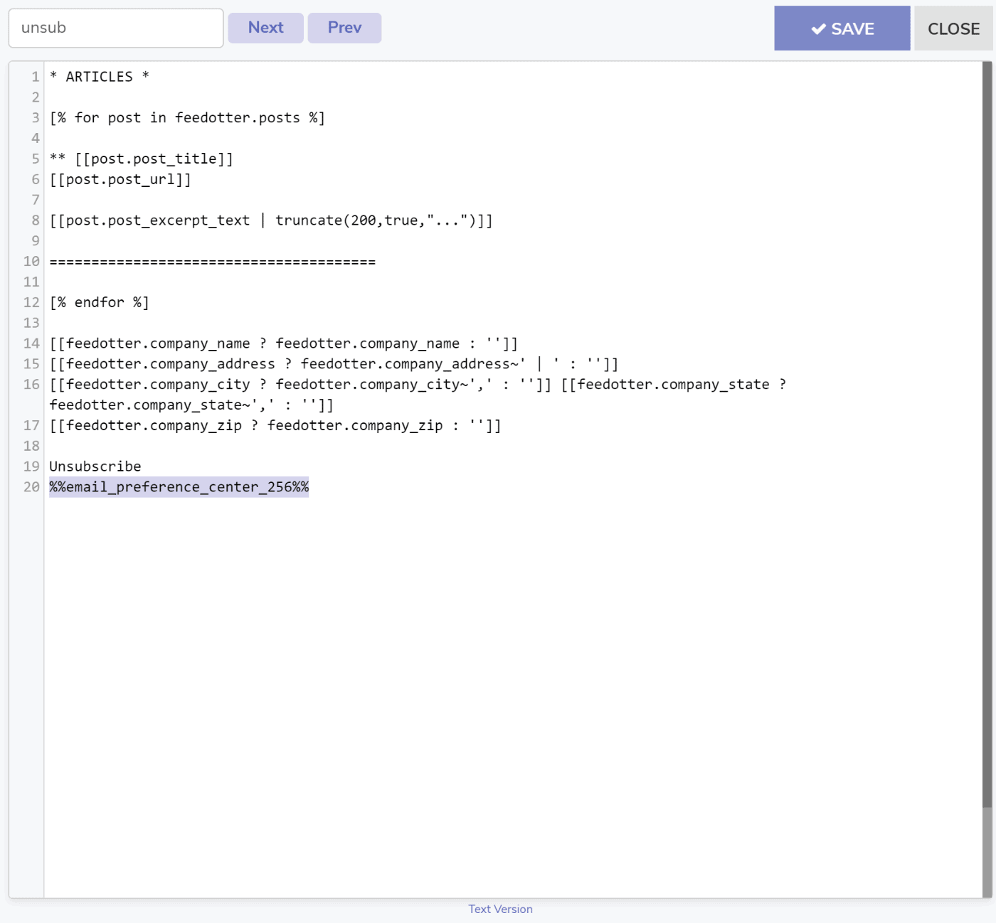 Text Version of your FeedOtter email