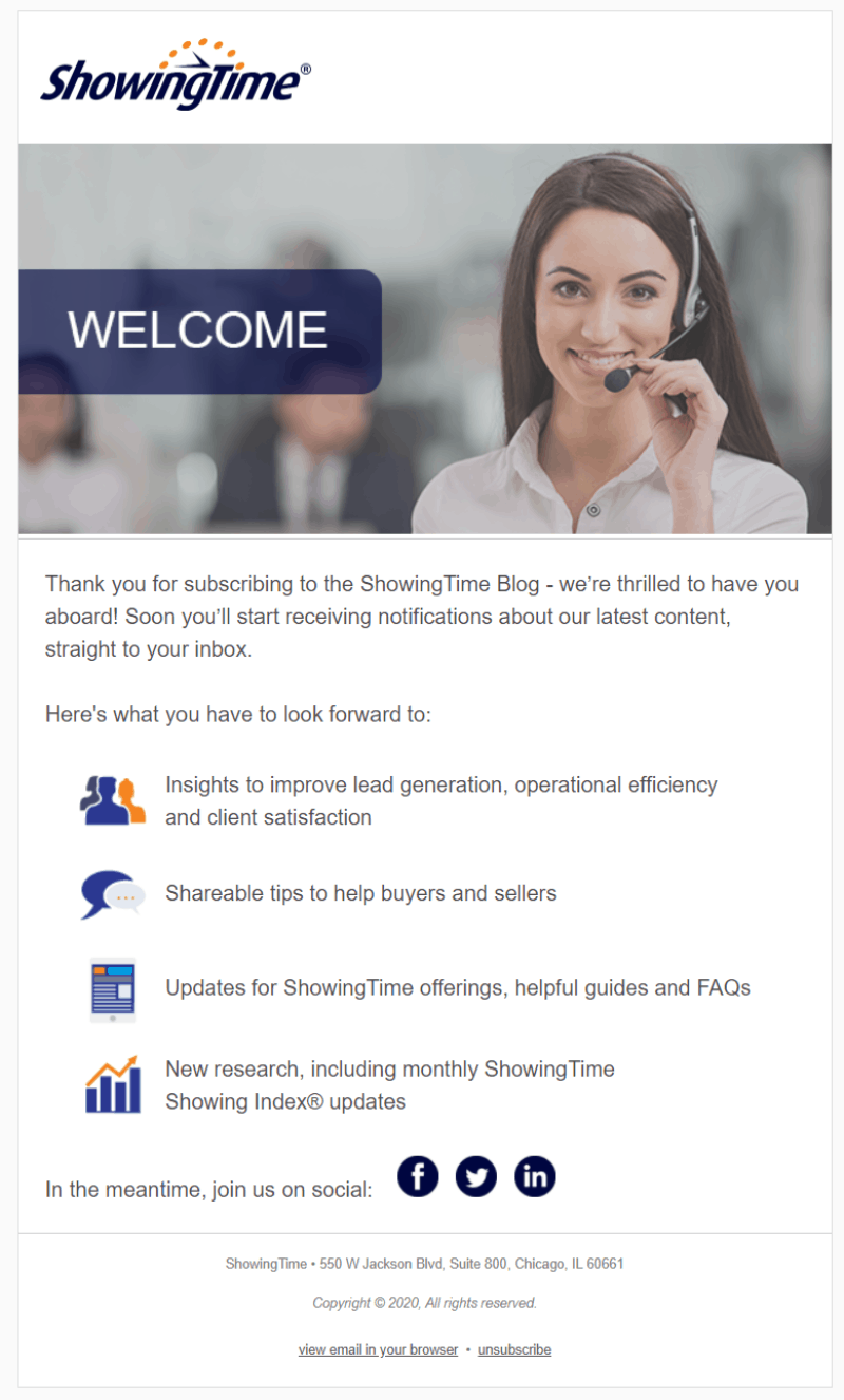 ShowingTime Welcome Email