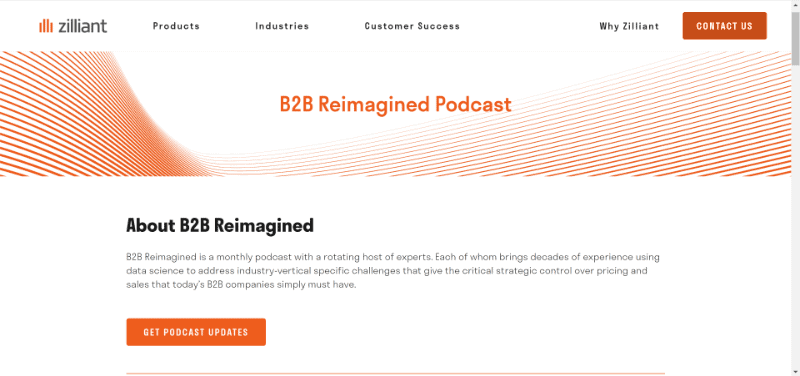 Zilliant Podcast Homepage