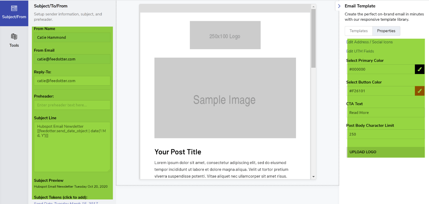 Curated Newsletter Setup Details