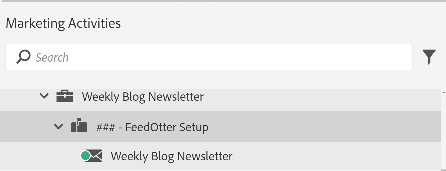 Marketo FeedOtter Setup Email