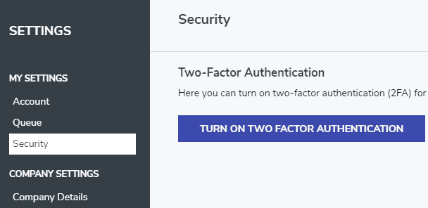 Setting up two-factor authentication with FeedOtter