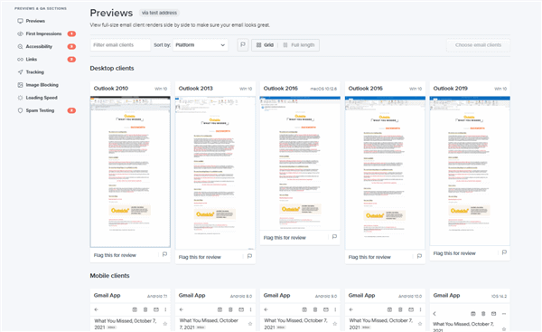 Litmus email preview tool to test your Marketo email template
